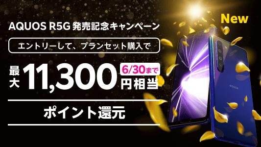 「AQUOS R5G」で最大11,300円相当の楽天ポイントをゲットする方法